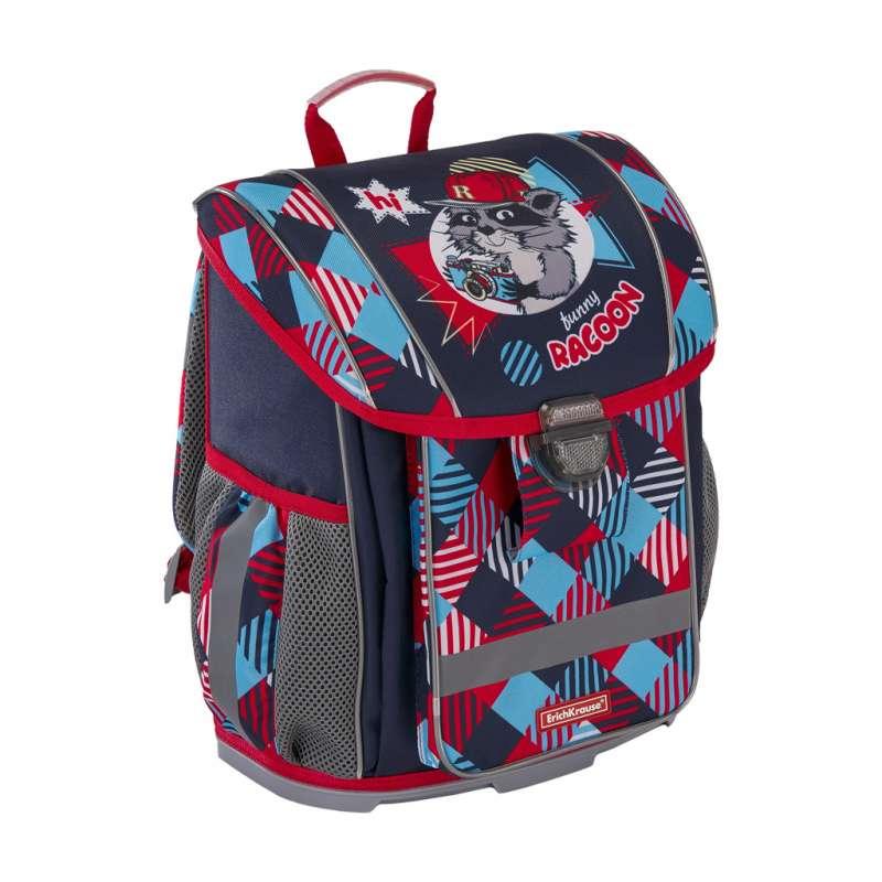 Школьный рюкзак 30x37x16, 830г. 16 L ErichKrause ErgoLine Funny Racoon