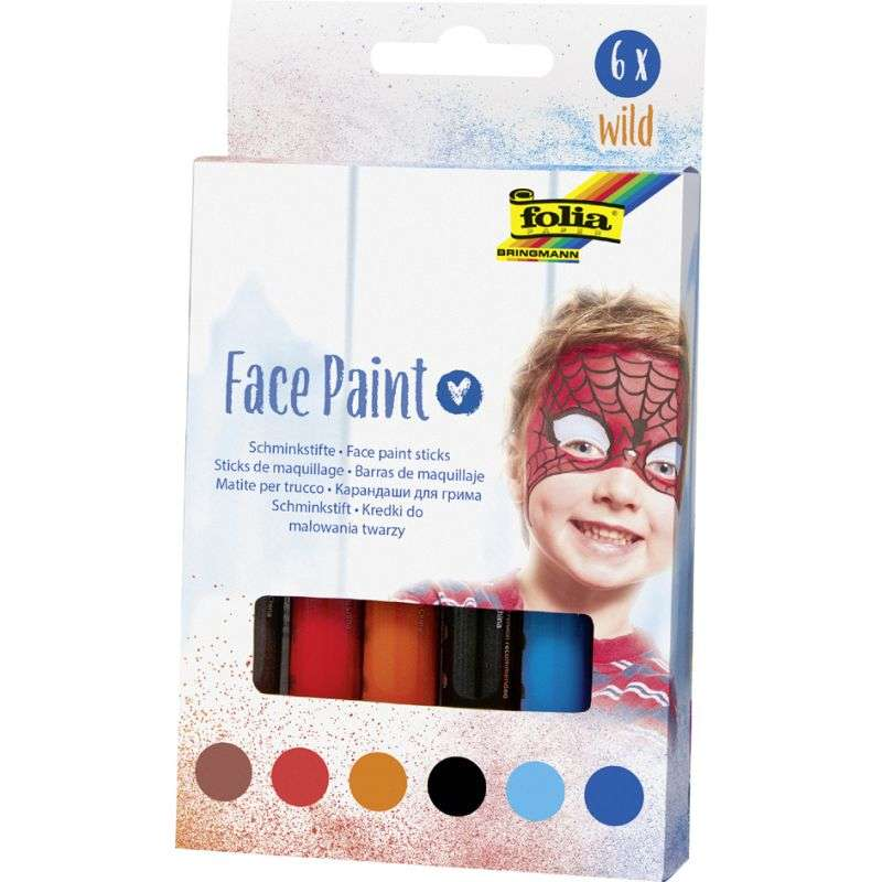 Краски для лица 6цв. Набор карандашей для макияжа