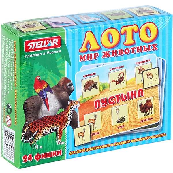 Galda spēle Loto. Dzīvnieku pasaule (24 fiškas)